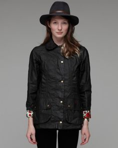 d77b59bf903 Barbour jacket with Liberty lining ! Barbour Jacket Women