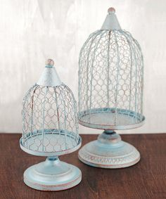 Look at this Slate Blue Birdcage Set on #zulily today!