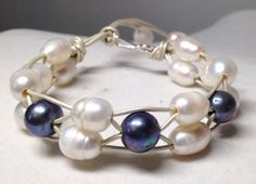Beautiful lattice work freshwater pearl by PearlnLeatherJewelry