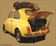 Fantastic Cute cars photos are offered on our website. Car Photos, Car Pictures, Studio Ghibli, Fiat 500, Lupin The Third, Fiat Abarth, Cute Cars, Old Cars, Cars And Motorcycles