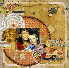 Us with my beautiful son Jarno **This is made for DT work MY Creative Scrapbook LE KIT Januari
