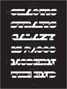 Specimen, Maelstrom typeface, 2014. designed by Kris Sowersby and made for Klim Type Foundry.