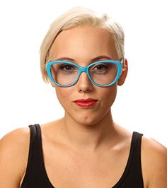 moodvision MV14  Cateye Turquoise Purple Frame Blue Lens Fashion Glasses  58mm Cat Eye, 7f056e9afc