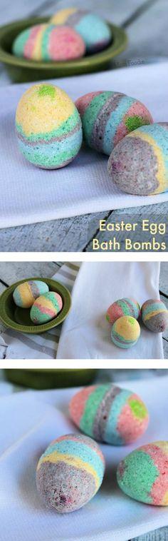 Homemade Easter Egg Bath Bombs - Easy DIY Beauty craft