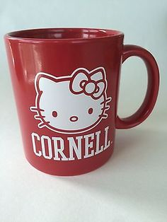 Cornell-University-Hello-Kitty-Sanrio-Cat-Red-Coffee-Mug-Cup-12-oz-Graduation