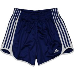 Adidas Womens Athletic Mesh DATTO Shorts ($20) ❤ liked on Polyvore featuring shorts, bottoms, pants and adidas