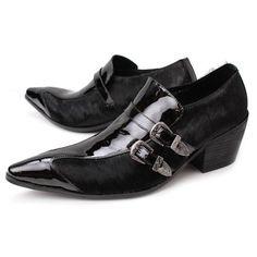 Classic Black Patent Leather Wedding Prom Dress Shoes for Men Shoes Men, Men's Shoes, Shoe Boots, Dress Shoes, Mens Boots Fashion, Fashion Shoes, Rocker Boots, Tuxedo Shoes, Cowboy Shoes