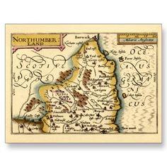 Northumberland County Map, England