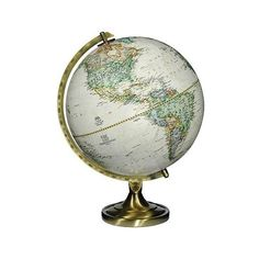 """Grosvenor Brown Ocean 16 1/2"""" High National Geographic Globe (6,040 INR) ❤ liked on Polyvore featuring home, home decor, fillers, globes, decor, furniture, home accessories, antique home decor, sea home decor and ocean home decor"""