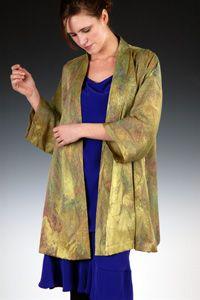 Marbled Silk Kimono