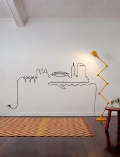 Why To Hide Cables - Transform Them Into Beautiful Wall Art