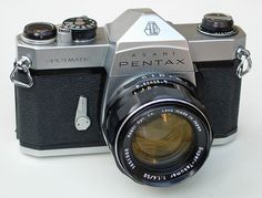 My first 35 mm SLR was this Asahi Pentax Spotmatic that I bought in 1967.