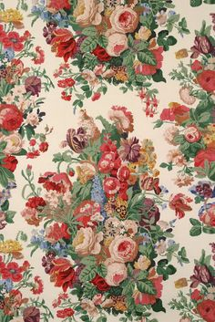 when I think about the ultimate in glorious hand blocked textiles-I think HAZELTON HOUSE. Fabrics designs dating from the to t. Vintage Wallpaper Patterns, Pattern Wallpaper, Wallpaper Designs, Fabric Wallpaper, Wallpaper Backgrounds, Floral Wallpapers, Motif Floral, Floral Prints, Textiles