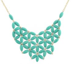 Amazon.com: Chunky Cluster Party Statement Necklace - Turquoise (Jcn20): Jewelry
