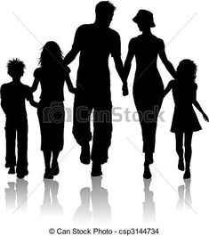 Vector - Family silhouette - stock illustration, royalty free illustrations, stock clip art icon, stock clipart icons, logo, line art, EPS picture, pictures, graphic, graphics, drawing, drawings, vector image, artwork, EPS vector art