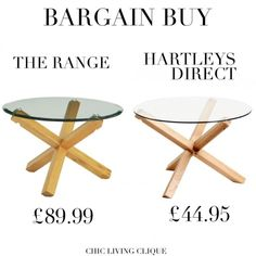 Bargain Buy: Glass and Wood Coffee Table – Chic Living Clique Coffee, Chic, Wood, Glass, Table, Stuff To Buy, Home Decor, Kaffee, Shabby Chic