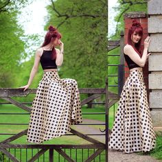 Shabby Apple Maxi Skirt, Missguided Crop Top