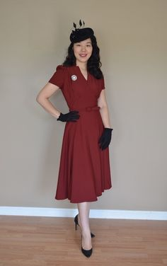 this look from the ModCloth Style Gallery! Cutest community ever. Vintage Inspired Outfits, Vintage Outfits, Retro Fashion, Vintage Fashion, Retro Vintage Dresses, Vintage Clothing, Womens Dress Suits, My Style, Indie Style