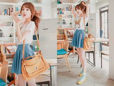 adorable spring ulzzang #blue #yellow