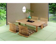 柏木工(KASHIWA) 座椅子 GWC72の写真 Japanese Dining Table, Unique Dining Tables, Low Tables, Dining Room Table, Modern Wood Furniture, Japanese Furniture, Furniture Design, Japanese Interior Design, Home Interior Design