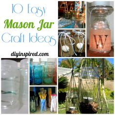 10 Mason Jar Craft Ideas » DIY Inspired