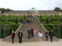 Sanssouci (without concerns [or cares]), Frederick the Great's summer palace in Potsdam, Germany.