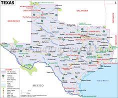 Texas (TX) Map