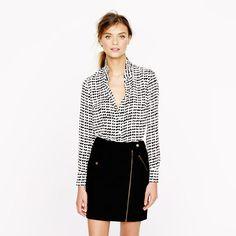 j. crew blouse + skirt.
