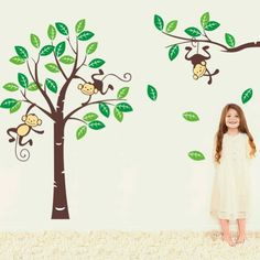 Sumlake X Large Cartoon Forest Monkeys Green Tree Wall Art Stickers Decal Decoration Sumlake http://www.amazon.co.uk/dp/B00J1DT5B2/ref=cm_sw_r_pi_dp_-Xo0tb1G2G3CGEH5