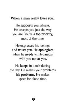 When A Man Really Loves You. He Supports You, Always - Gedanken - Love Love Yourself Quotes, Love Quotes For Him, Quotes To Live By, Making Love Quotes, At Night Quotes, Good Husband Quotes, Amazing Man Quotes, Perfect Man Quotes, Be With Someone Who Quotes