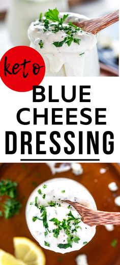 You may wonder why you would ever make Keto Blue Cheese Dressing when you can easily pick up a Keto-friendly version at the grocery store. Take one bite of this low carb dressing recipe and you will see why it is worth the few minutes it takes to make. I like this with Keto Buffalo Chicken, or on a salad, or even with grilled chicken. #kickingcarbs #LowCarbBlueCheeseDressing #KetoRecipes #KetoBlueCheese