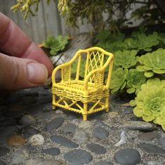 miniature wicker chair