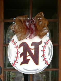 Custom Sports Door Hanger by BronwynHanahanArt on Etsy, $55.00