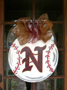 Custom Sports Door Hanger by BronwynHanahanArt on Etsy, $55.00