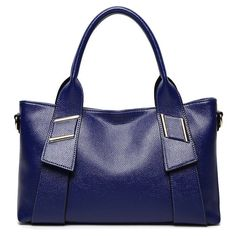 Stylish Solid Color and Letter Design Women's Tote Bag - DEEP BLUE