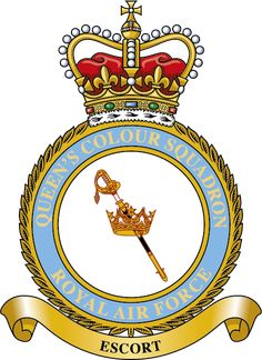 Badge for Queen's Colour Squadron Royal Air Force, Crests, Special Forces, Badges, Ww2, Empire, Aircraft, British, Army