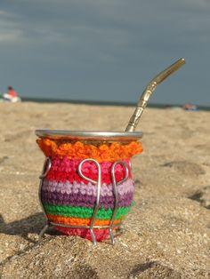 Funda mate crochet El Ovillo