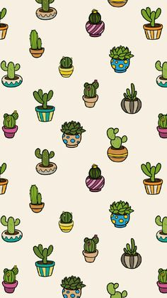 Shared by Natasha Mendoza. Find images and videos about cactus, wallpaper and pattern on We Heart It - the app to get lost in what you love. Cute Patterns Wallpaper, Cute Wallpaper For Phone, Iphone Background Wallpaper, Kawaii Wallpaper, Tumblr Wallpaper, Galaxy Wallpaper, Aesthetic Iphone Wallpaper, Cool Wallpaper, Succulents Wallpaper