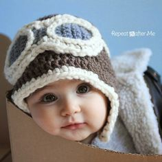 Crochet For Children: Crochet Aviator Hat - Free Pattern