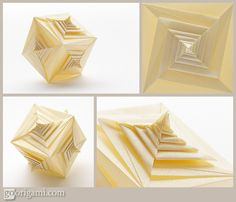I just love origami...and this would be pretty as decoration on tables, or clip…