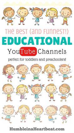 Educational Websites, Educational Activities, Preschool Activities, Learning Websites, Educational Leadership, Kindergarten Worksheets, Toddler Fun, Toddler Preschool, Educational Youtube Channels