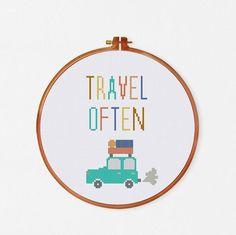 ThuHaDesign Travel Often cross stitch pattern