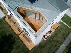 Completed in 2017 in Humenné, Slovakia. Images by Martin Pitoňák. The dilapidated object of the old non-functional mill was given a new face, according to a project from Atrium Architekti studio. Types Of Houses, Urban Design, Design Design, Canopy, Terrace, Beach House, Architecture Design, Old Things, Loft