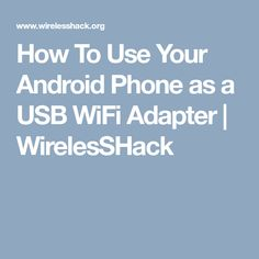 How To Install Usb Wifi Adapter On Kali Linux Android