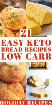 keto recipes for beginners 21 keto bread recipes that'll walk you through how to make the best keto bread with almond flour, coconut flour, Fathead dough or cream cheese Easy Low Carb Bread Recipe, Lowest Carb Bread Recipe, Easy Cake Recipes, Low Carb Recipes, Bread Recipes, Healthy Recipes, Dessert Recipes, Recipe Tasty, Diet Desserts