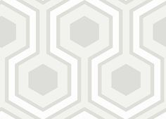 Hicks Grand (95/6036) - Cole & Son Wallpapers - An interesting large scale geometric design made up of grey, lilac and white hexagons. More colours are available. Please order a sample for true colour match. Paste-the-wall product.