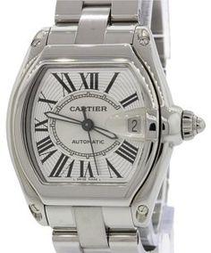 b1e5d2ec01d Cartier Cartier Roadster 2510 Steel Silver Roman Dial Date Watch Box Papers