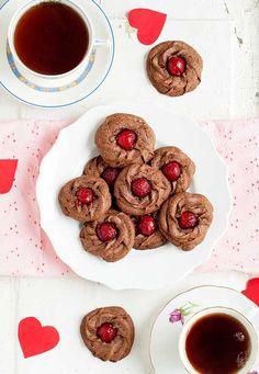 Gluten Free Almond Chocolate Cherry Stars Recipe | Simply Gluten Free