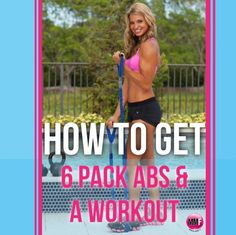 How To Get 6-Pack ABS & A great workout that can be done from home.  3 of the best core exercises for flattening the belly.  http://michellemariefit.publishpath.com/6-pak-abs-workout