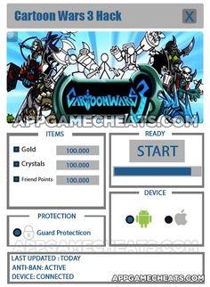 Cartoon Wars 3 Cheats & Hack for Gold, Crystals, & Friend Points  #Action #Arcade #CartoonWars3 #Strategy http://appgamecheats.com/cartoon-wars-3-cheats-hack/
